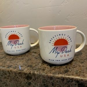 Greetings From My Desk Mugs - set of 2